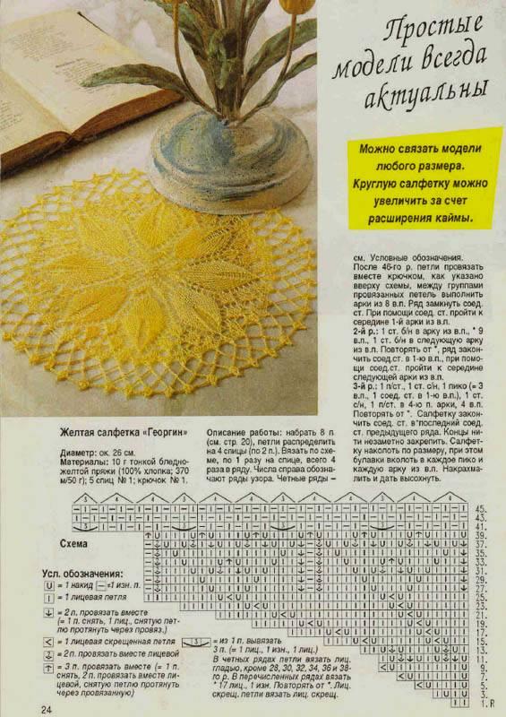 Вязание крючком и спицами салфеток 67